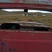Epave de voiture en Patagonie