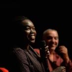 Les chapiteaux du livre conférence de Fatou Diome