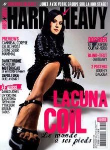 Lacuna Coil en couverture du magazine Hard'n'Heavy