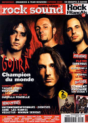 Gojira en couverture du magazine Rocksound