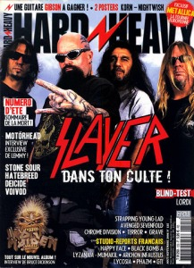 Slayer en couverture du magazine Hard'n'Heavy