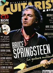 Bruce Springsteen en couverture du magazine Guitarist