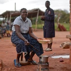 Cuisine en extérieur en Zambie