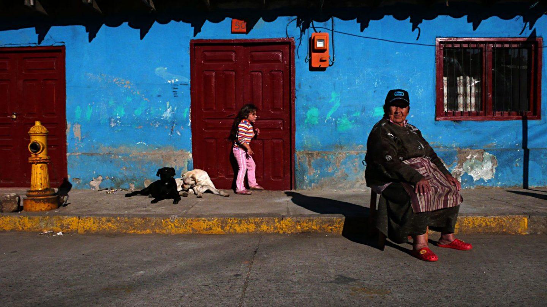 Scène de rue à Chanco au Chili
