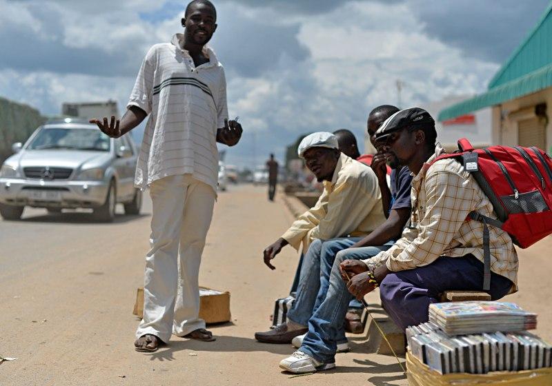 Scène de rue à Kapiri Mposhi en Zambie
