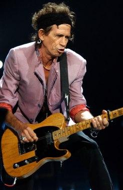 Keith Richards et les Rolling Stones en concert à Bercy