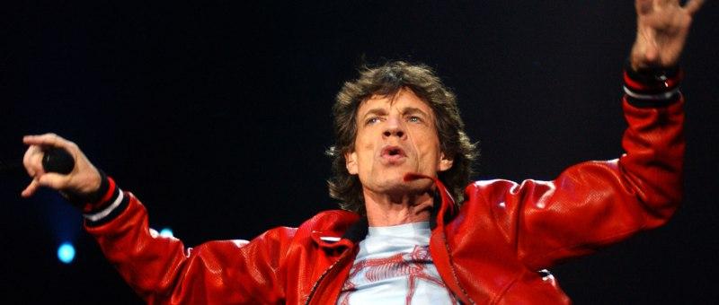 Mick Jagger et les Rolling Stones en concert à Bercy