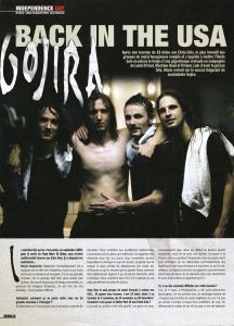Interview de Gojira dans le magazine Rockmag