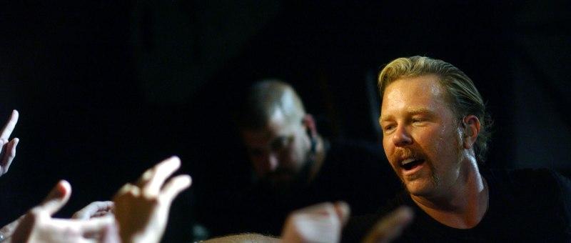 James Hetfield et Metallica en concert à la Boule Noire