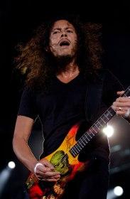 Kirk Hammett et Metallica en concert au Parc des Princes