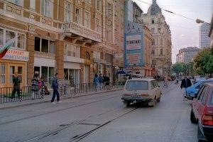 Fin d'été à Sofia en Bulgarie au début des années 90